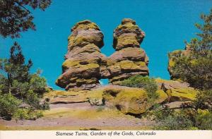 Siameese Twins And Vista Of Pikes Peak Garden Of The Gods Colorado Springs Co...