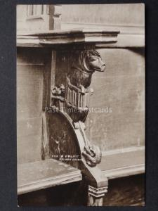Dorset: FOX IN PULPIT Christchurch Priory Church - Old RP Postcard