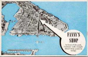 Fanny's Shop Curacao NWI Unused Postcard F84
