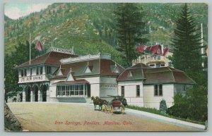 Manitou Colorado~Iron Springs Pavilion~c1910 Postcard