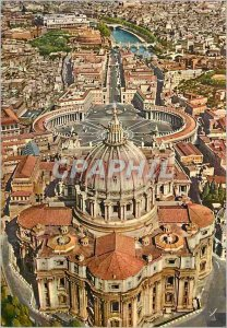 Postcard Modern Citta del Vaticano Aerienne view of the Basilica of St. Peter