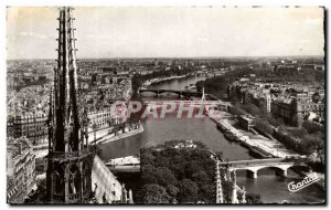 Paris Old Postcard The arrow of Notre Dame The Seine