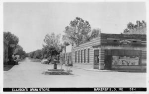 Bakersfield MO~Ellison's Drug Store~Royal Crown Cola~Cropper Cafe~1950s RPPC