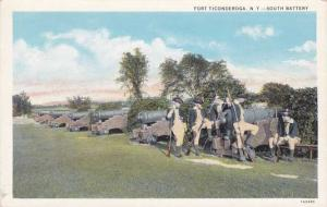 Fort Ticonderoga NY, New York - South Battery Cannon - WB
