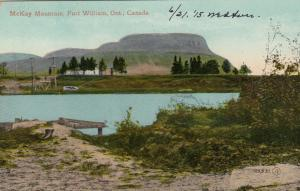 FORT WILLIAM , Ontario , 1900-10s ; McKay Mountain