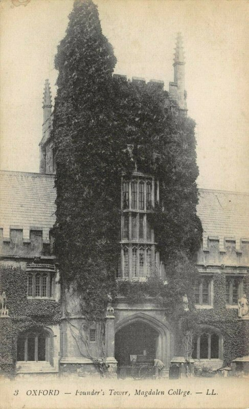 Vintage Postcard, OXFORD, Founder's Tower, Magdalen College by Louis Levy 8Z