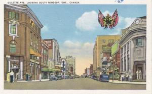 Oulette Avenue looking South, Windsor, Ontario, Canada, 30-40s