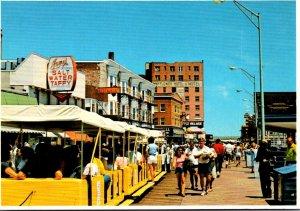 New Jersey Atlantic City On The Boardwalk Showing Tram