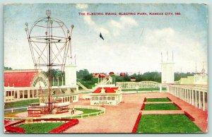 Kansas City Missouri~Electric Amusement Park Swing~Yales Automat~1908 Postcard