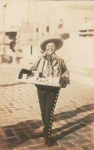 RP: Boy Street Vendor , Mexico, 1900-10s ; Photographer Hugo BREHME