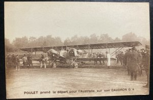 Mint France Real Picture postcard Poulet Departing To Australia On Cuadron