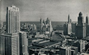 USA Business District Chicago 1936 Posted 03.32