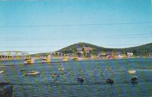 Canada Ross Bridge and Harbour Gaspe Quebec