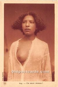 Arab Nude Postcard Un Beau Nichon Unused