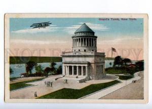 178336 USA NEW YORK Grant 's Tomb airplane vintage postcard