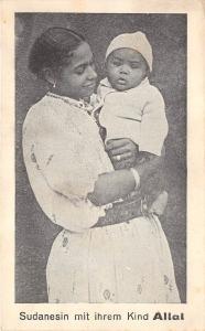 BG32695 sudanesin mit ihrem kind allal mother with child enfant sudan types