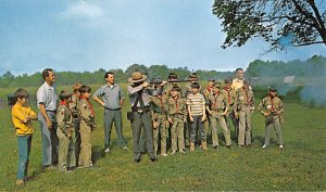 Scouts Post Card Rifle Firing Demonstration Fort Oglethorpe, Georgia, USA Pos...