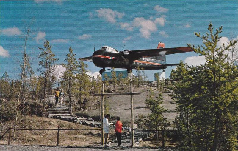 Bristol Monument , Airport , Yellowknife , N.W.T. , Canada , 50-70s (3.5 by5....