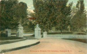 Blossom Hill Cemetery Entrance, Concord, New Hampshire Pre-Linen Postcard