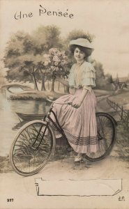 RP: Woman & bicycle , 00-10s