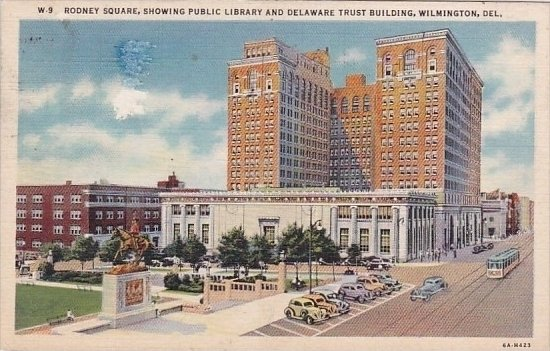 Rodney Square Showing Public Library And Delaware Trust Building Wilmington D...