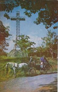Canada Quebec Cross On Top Mount Royal and Horse Drawn Caleche