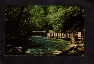 IN Spring Mill State Park Creek Dam Mitchell Indiana Postcard