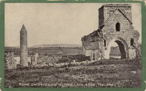 Ruins , Devenish Island , Long Erne , Ireland , 1909