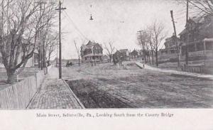 Pennsylvania Sellersville Main Street Looking South Berkemeyer