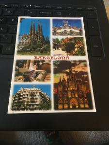Vintage Postcard; Barcelona , Spain Multi view