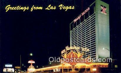 Flamingo Hilton, Las Vegas, NV, USA Motel Hotel Postcard Post Card Old Vintag...