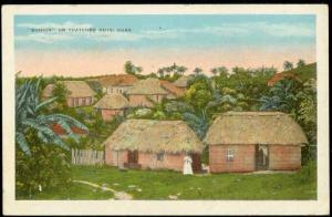 cuba, Bohios or Thatched Native Huts (1930s)