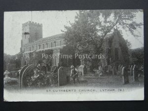 LYTHAM St Cuthberts Church c1904 Postcard SOUTH SHORE / BLACKPOOL DUPLEX PMK 953