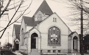 Ohio Postcard Real Photo RPPC 1908 WAUSEON Christian Church Building
