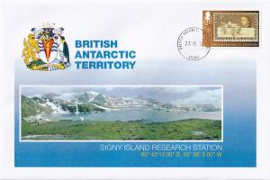 Signy Island Research Station British Antarctic Territory Stamp FDC First Day...