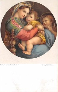 Religious Postcard Madonna and the Child Writing on Back