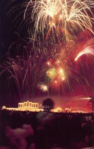 UK - England, London. Hyde Park, Fireworks on July 28, 1981 (Eve of Royal Wed...