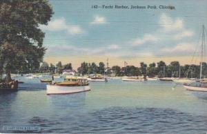 Illinois Chicago Yacht Harbor Jackson Park Curteich