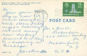 Dancing Curacao Vals Hotel Curacao International Aruba pm 1961 Postcard