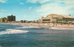 New Jersey Atlantic City Skyline Showing Convention Hall 1968