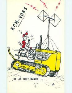 Bulldozer - Qsl Cb Ham Radio Card Gillette Wyoming WY s0333