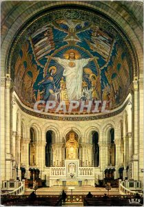 Modern Postcard Paris Basilique du Sacre Coeur Choir and Christ Mosaique