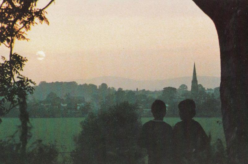 Upton Upon Severn Worcester Sunset Postcard