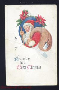 ANTIQUE VINTAGE CHRISTMAS POSTCARD SANTA CLAUS HAPPY XMAS