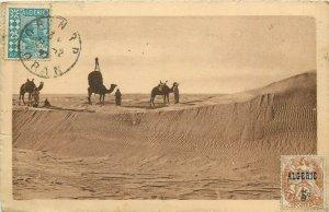 Algerie Algeria chameaux dans les dunes du grand Erg TCV stamps 1927