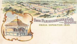 Omaha Exposition 1898 Fleischmann & Company's Booth Private Mailing Postcard
