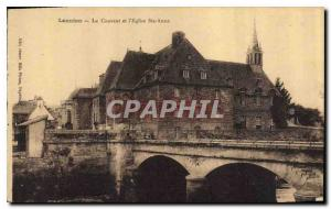 Postcard Lannion Old Convent and Church St Anne