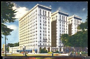 USA Postcard Park Shelton Hotel Detroit Michigan