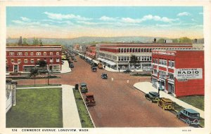 G33/ Longview Washington Postcard c1910 Commerce Avenue Stores