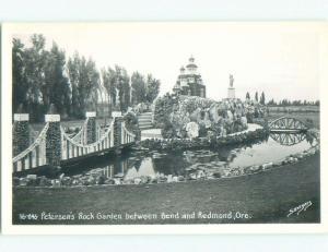 Pre-1950 rppc NICE VIEW Rock Garden Between Bend & Redmond Oregon OR W0115